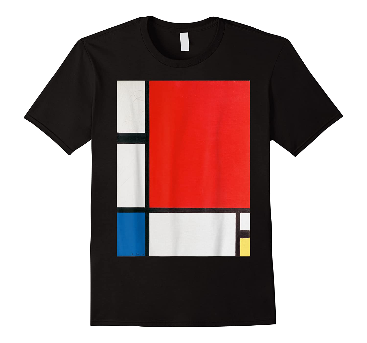 Composition With Red Blue And Yellow T-shirt