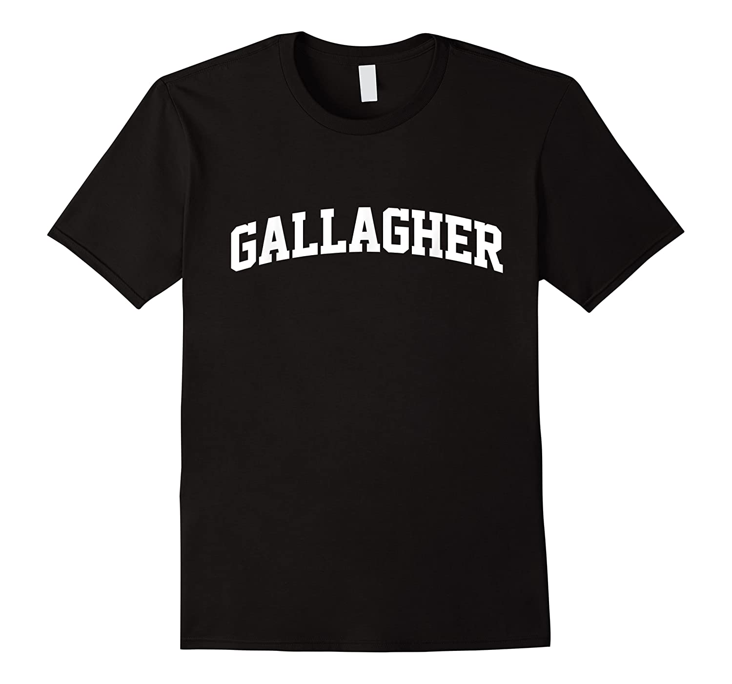 Gallagher Name First Last Retro Sports Arch T Shirt