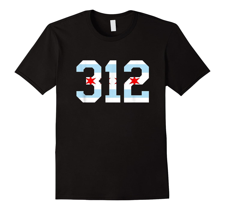 312 Chicago Flag Area Code City Pride T Shirt
