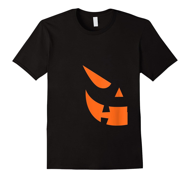 Jack O Lantern Pumpkin Face Halloween Matching Couple Funny Shirts
