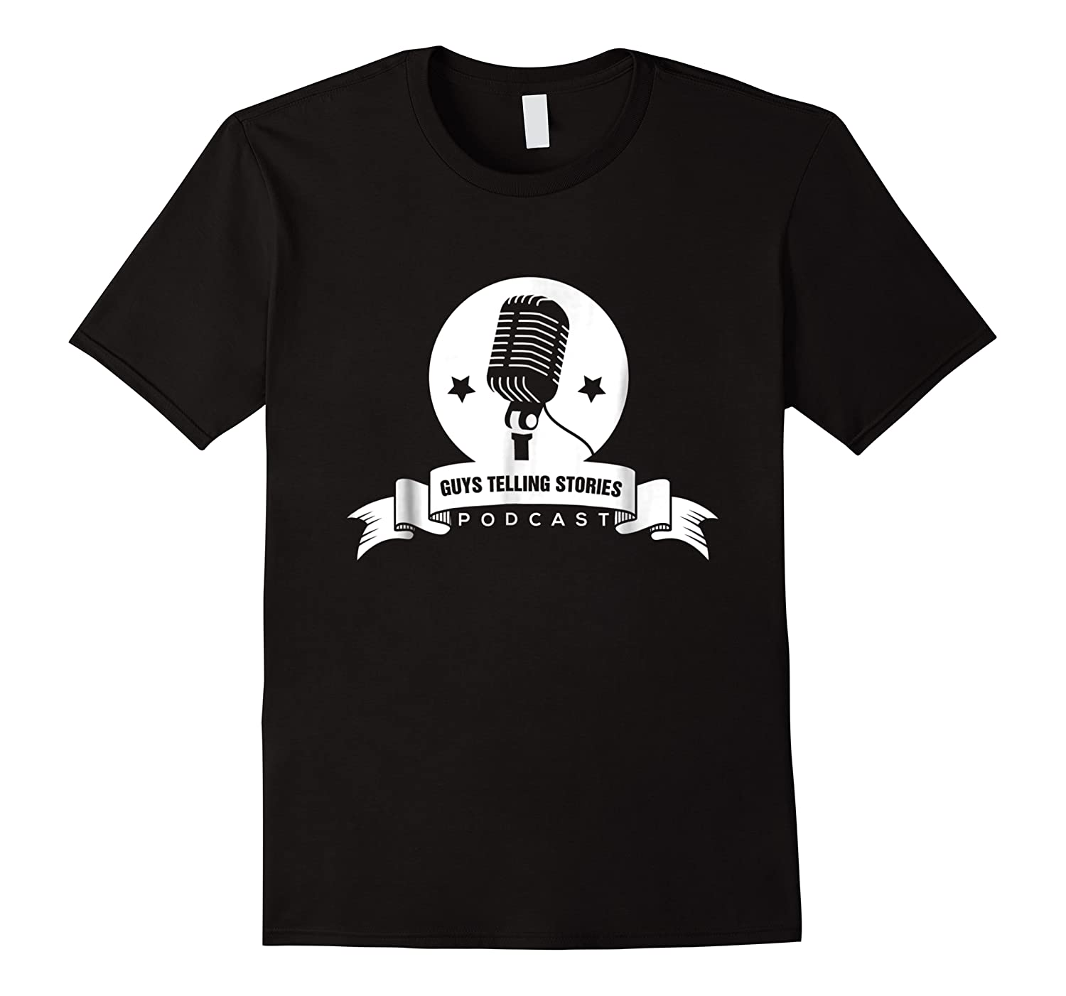Guys Telling Stories Microphone Design Shirts