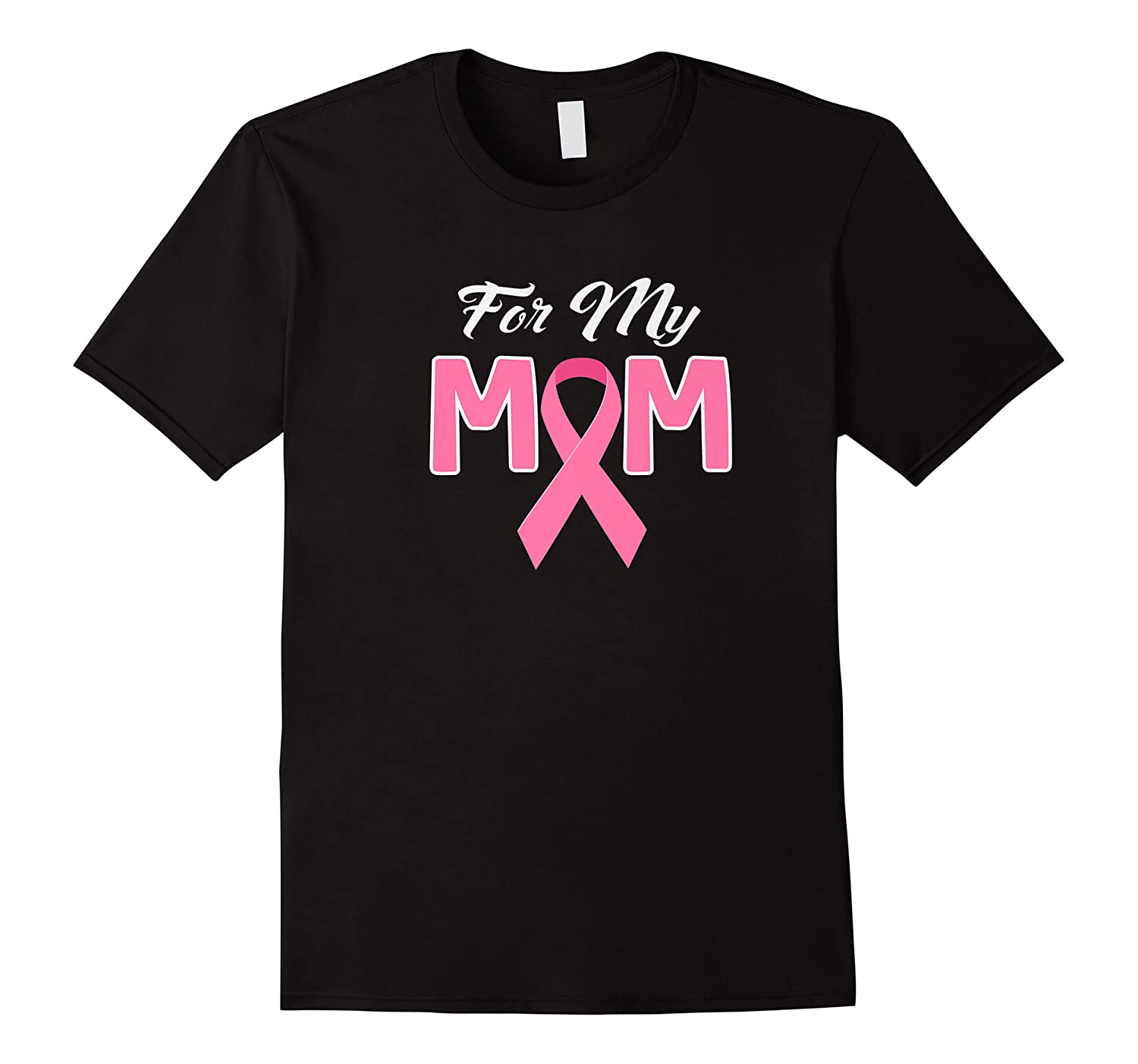 Pink Ribbon For My Mom Breast Cancer Awareness Month Premium T Shirt
