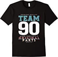 90th Birthday Funny Gift Team Age 90 Years Old T-shirt Black