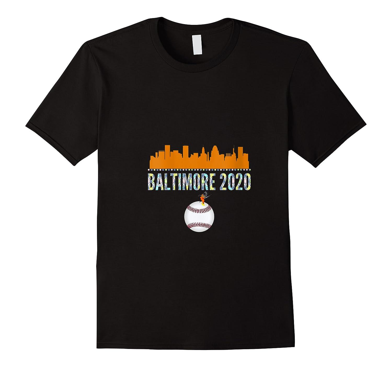 Baltimore Oriole Baseball 2020 Skyline Colorful Font Shirts