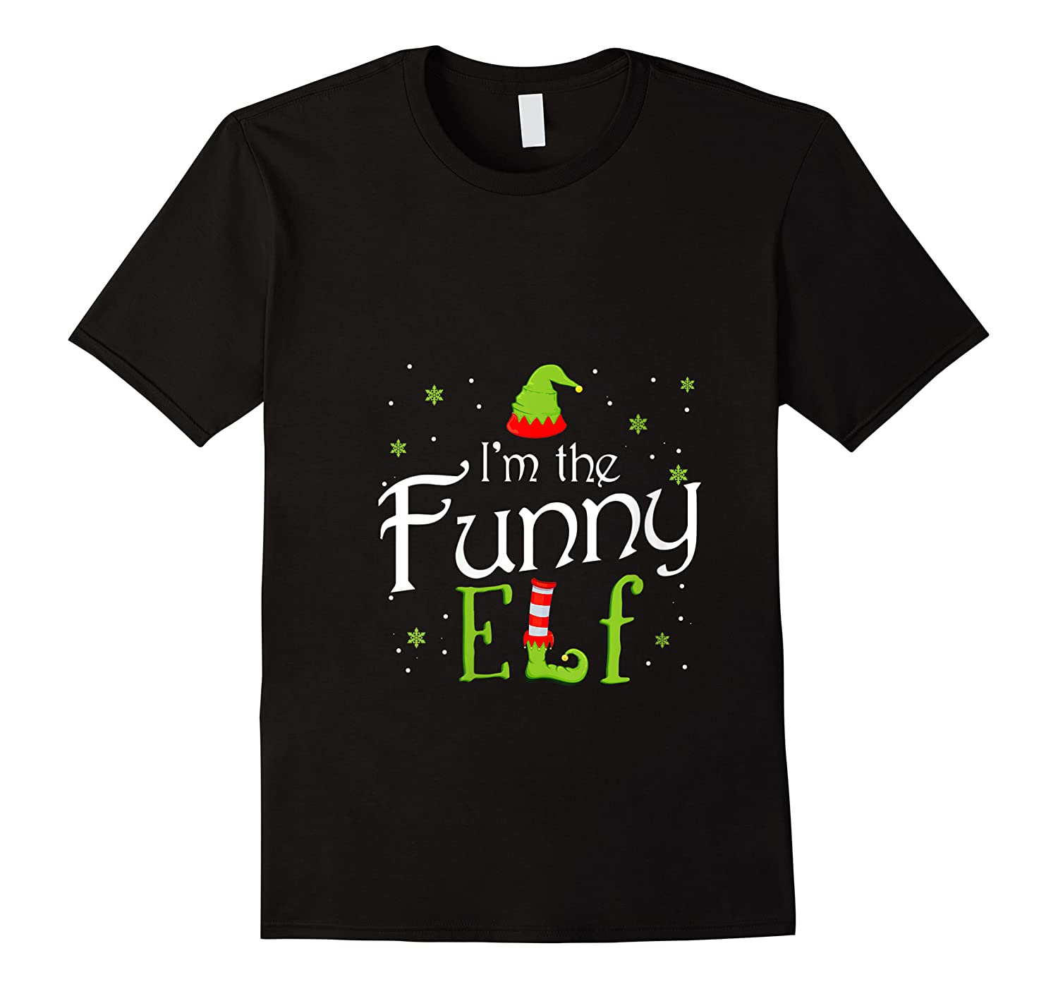 I'm The Funny Elf Funny Group Matching Family Christmas Gift Shirts