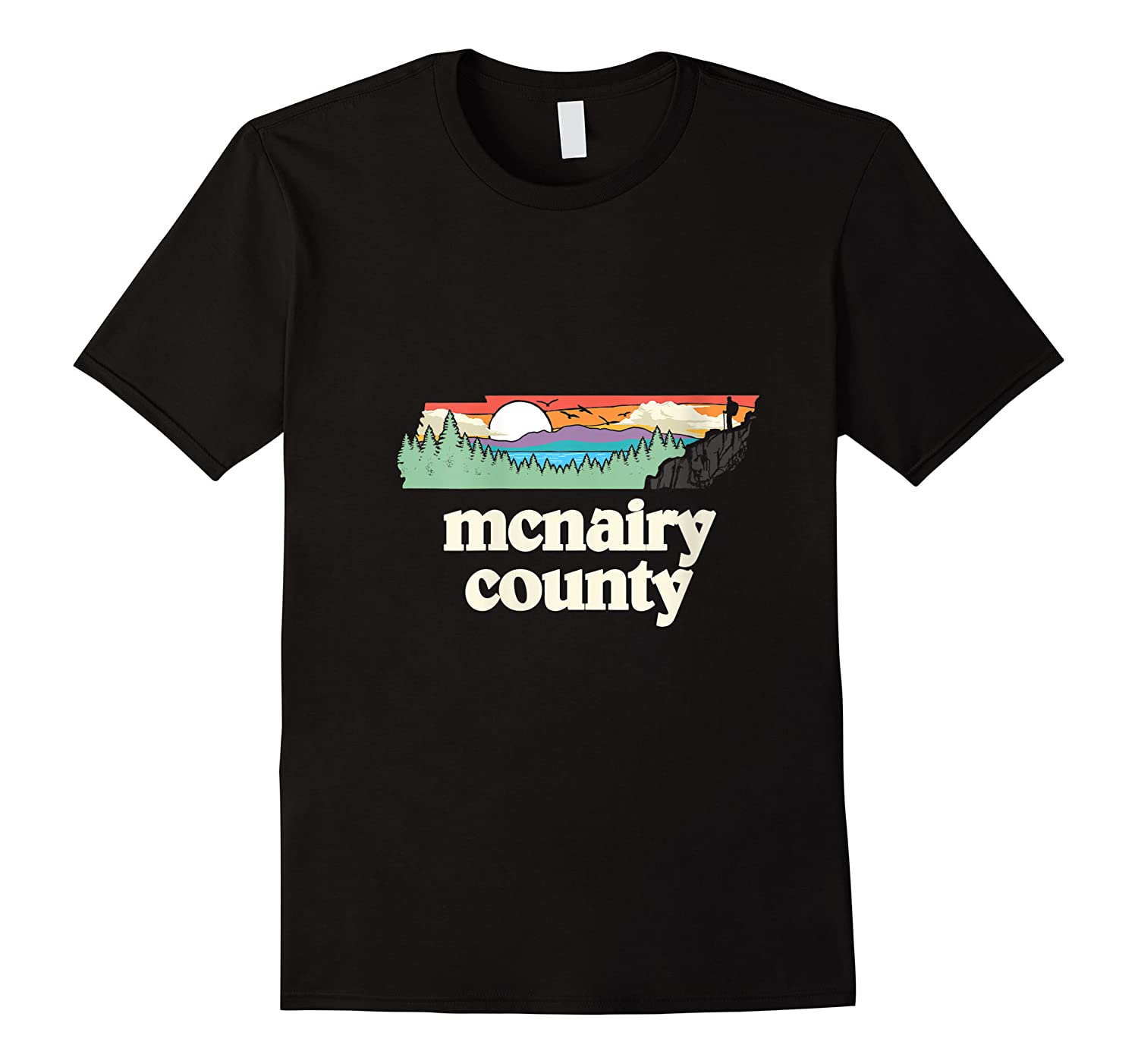Mcnairy County Tennessee Outdoors Retro Nature Graphic T Shirt