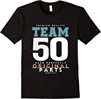50th Birthday Funny Gift Team Age 50 Years Old T-shirt Black