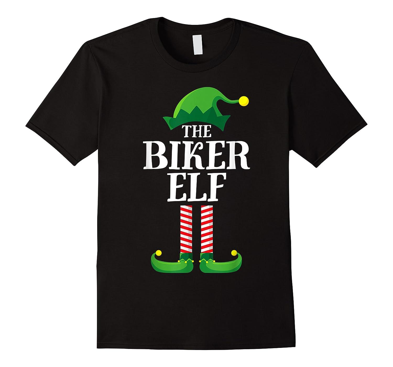 Biker Elf Matching Family Group Christmas Party Pajama T-shirt
