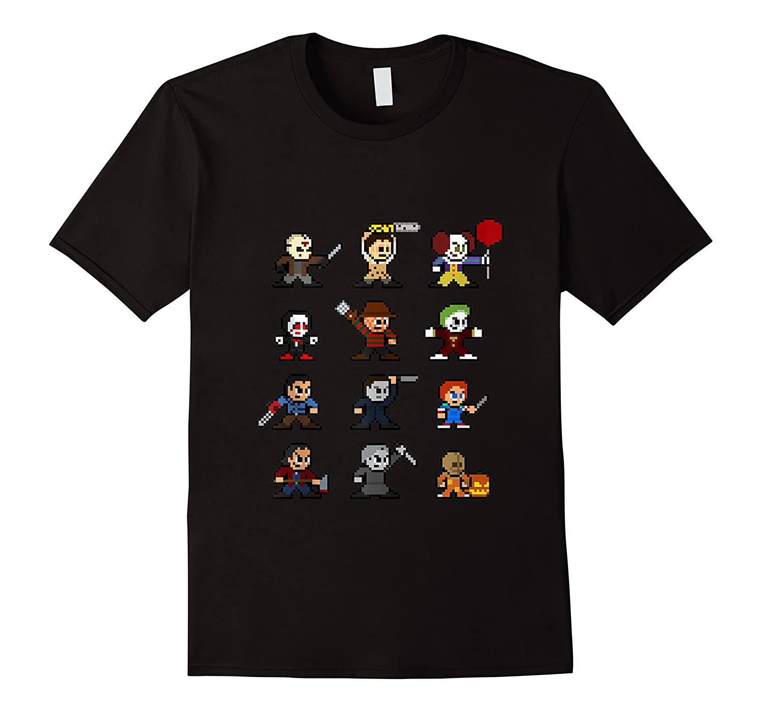 Friends Pixel Halloween Icons Scary Horror Movies Tank Top Shirts