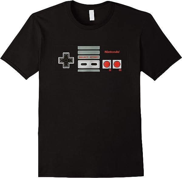 Nintendo Nes Controller Buttons Graphic T-shirt