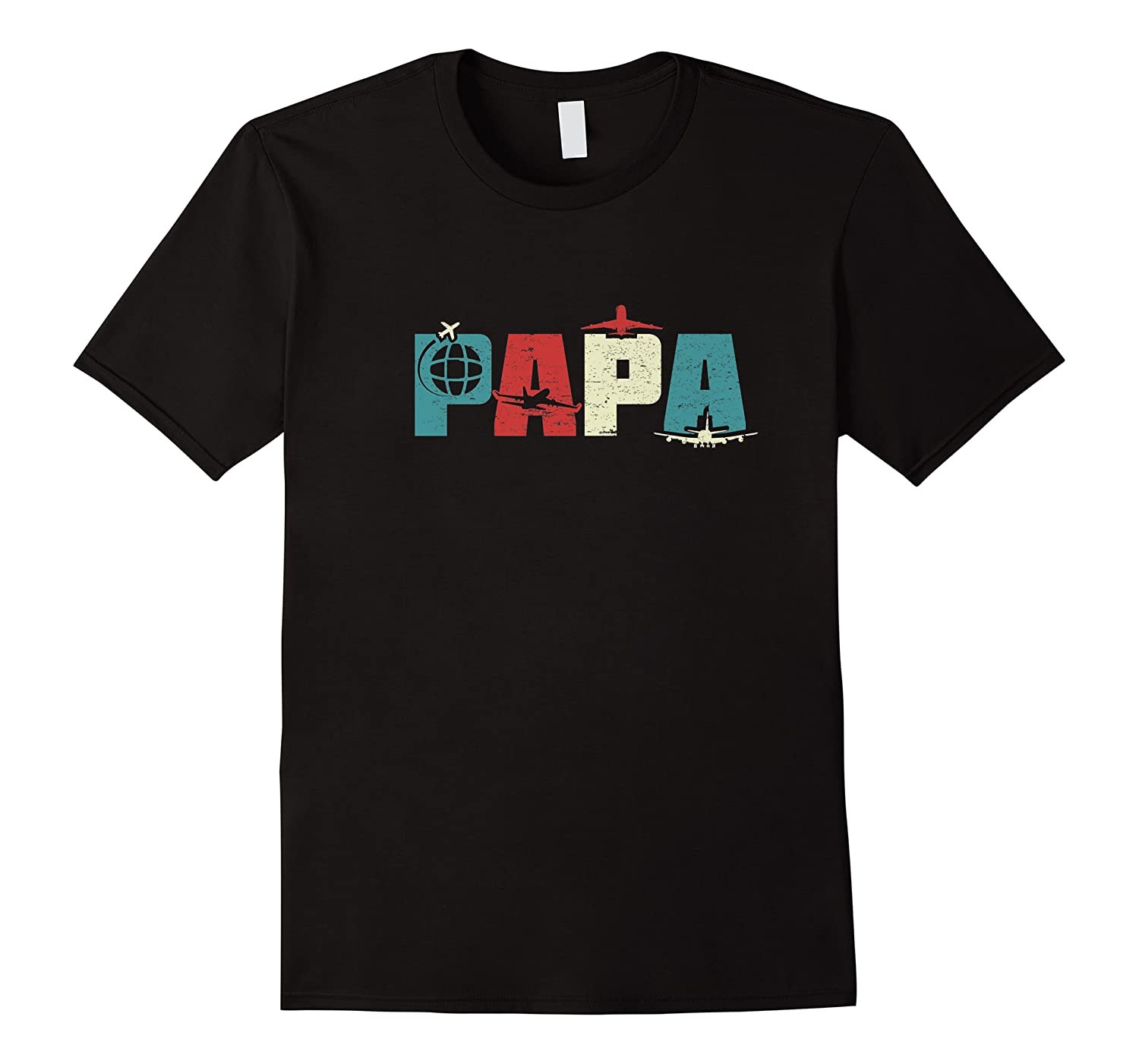 S Papa Pilot Funny Dad Aviation Flying Airplane Lovers Gifts Premium T Shirt