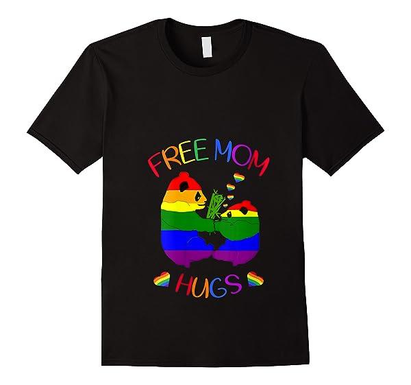 Free Mom Hugs Tshirt Rainbow Heart Lgbt Pride Month T Shirt
