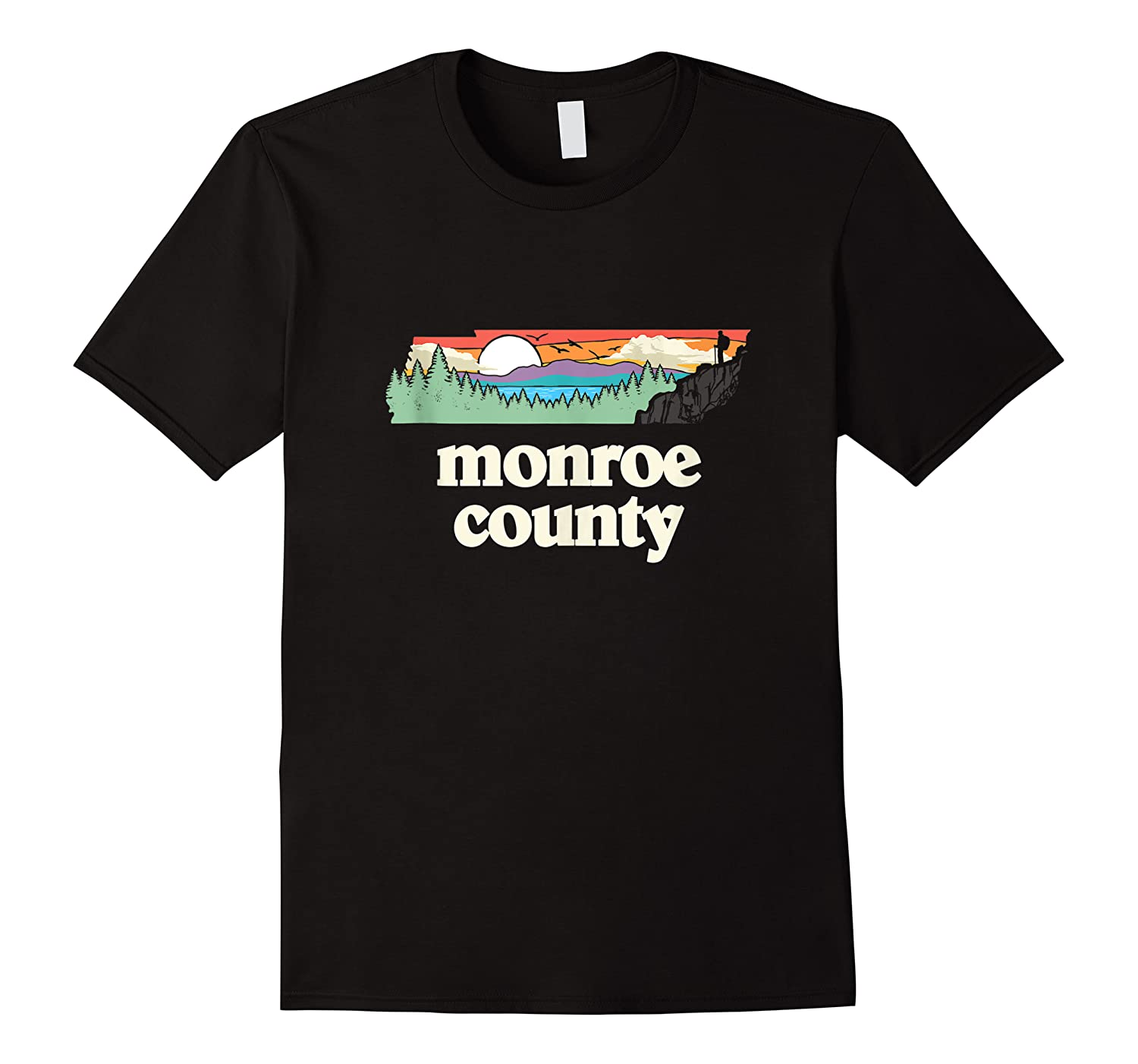 Monroe County Tennessee Outdoors Retro Nature Graphic Tank Top Shirts