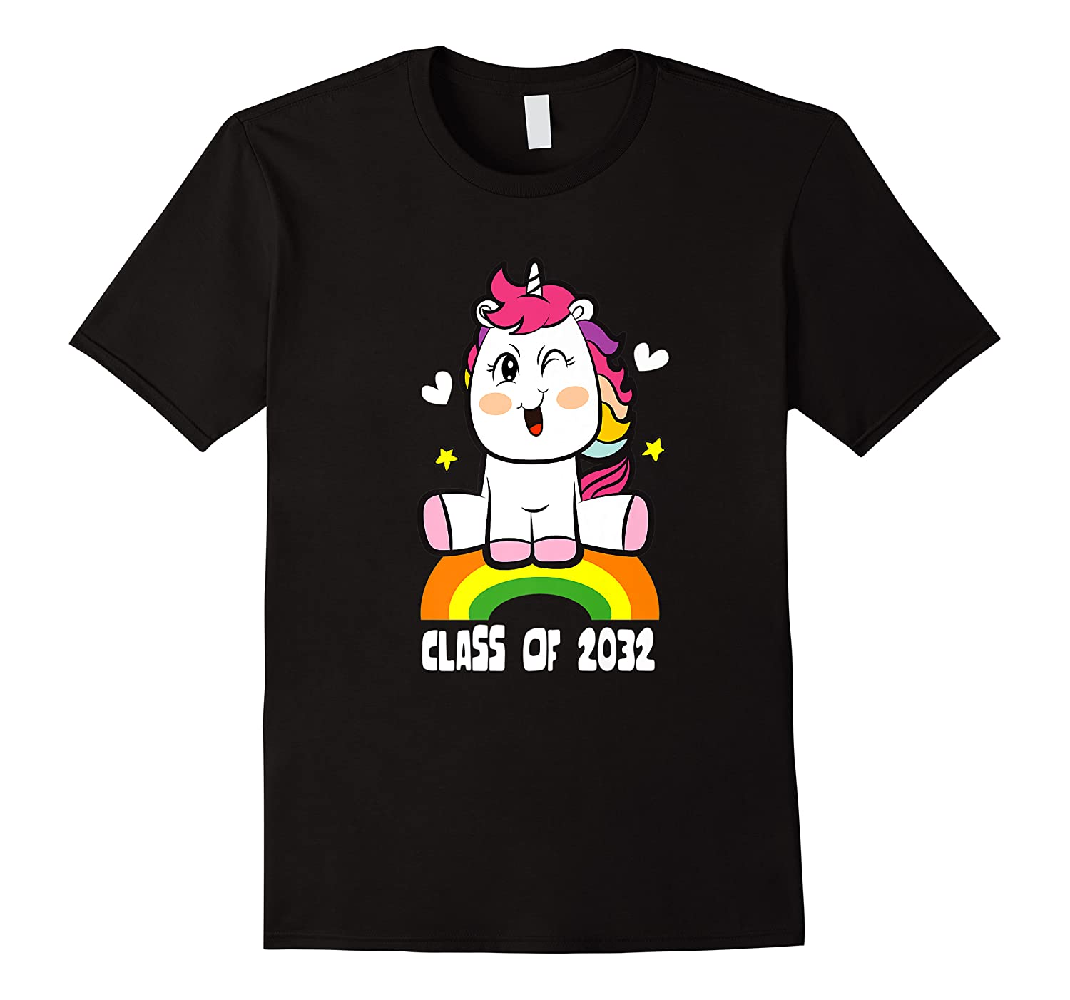 Unicorn First Day Of School Class Of 2032 Grow With Me Premium T-shirt
