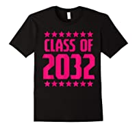 Class Of 2032 Stars Grow With Me First Day Kindergarten Gift T-shirt Black
