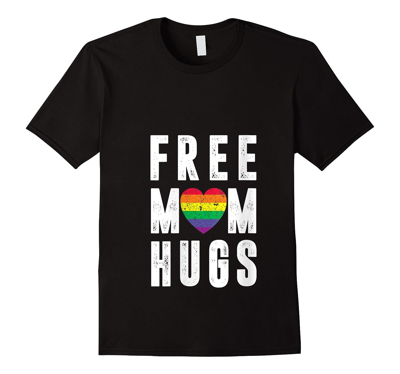 Lgbt X Pride - Cute Mother Distressed Lgbt Free Mom Hugs T-shirt