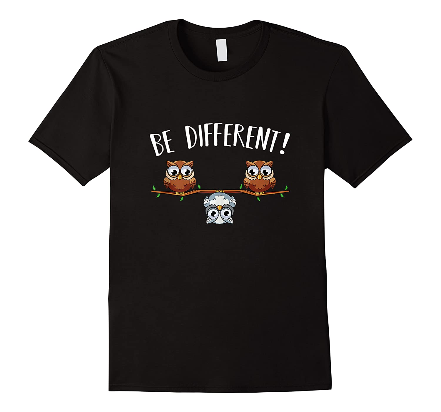 Be Different Owls Funny Animal Bird Lover Kawaii Quotes Tank Top Shirts