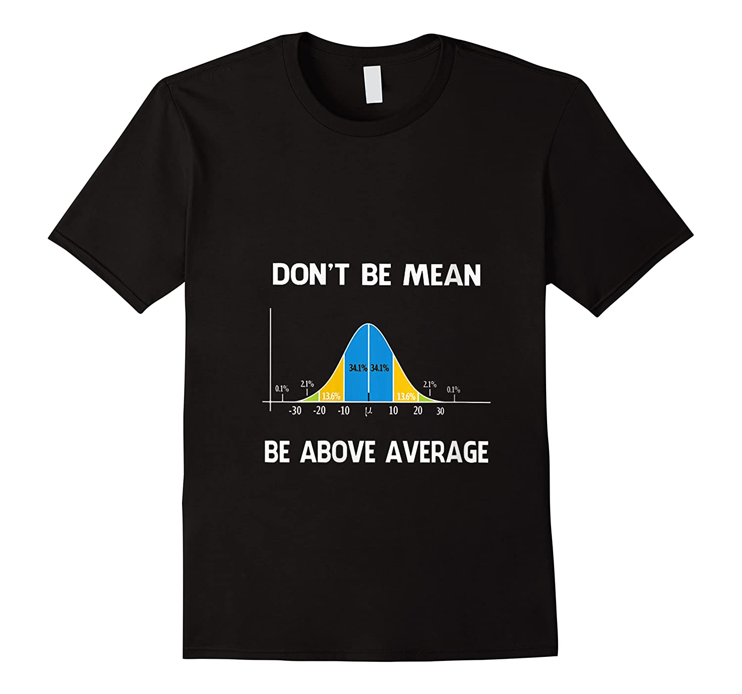 Don T Be Mean Be Above Average Funny Math Lover Gift T Shirt