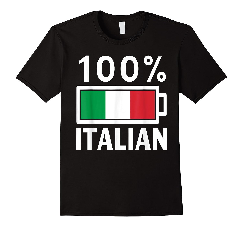 Italy Flag T Shirt 100 Italian Battery Power Tee