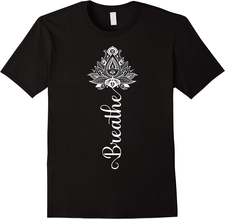 Breathe Mandala Lotus Meditation Yoga T-shirt Om Breathing T-shirt