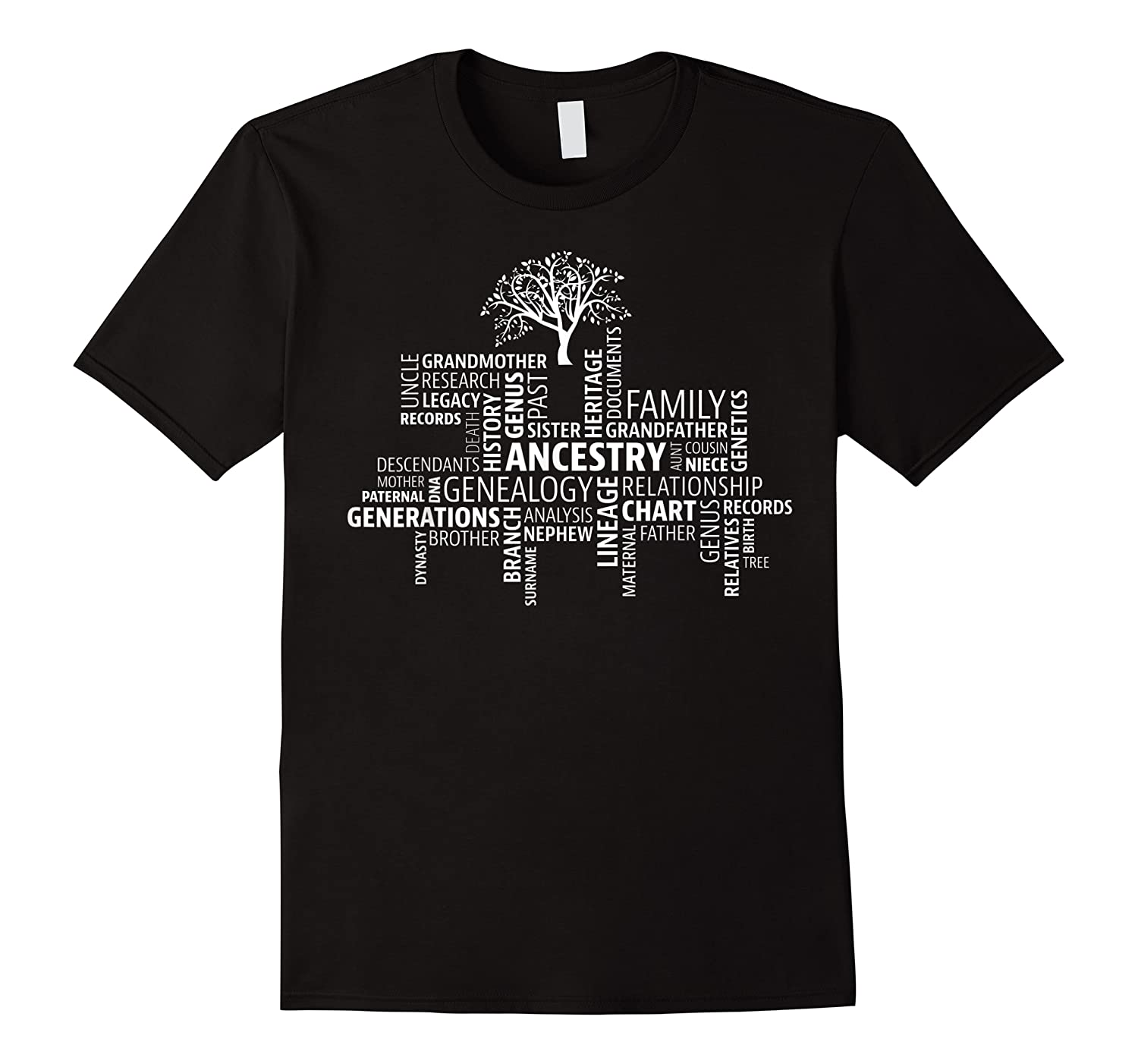 Genealogy Ancestry Word Cloud Research Your Family Shirts