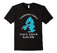 Lauderdale Lakes Wi Lake Life T-shirt Wisconsin Fans Tee Black