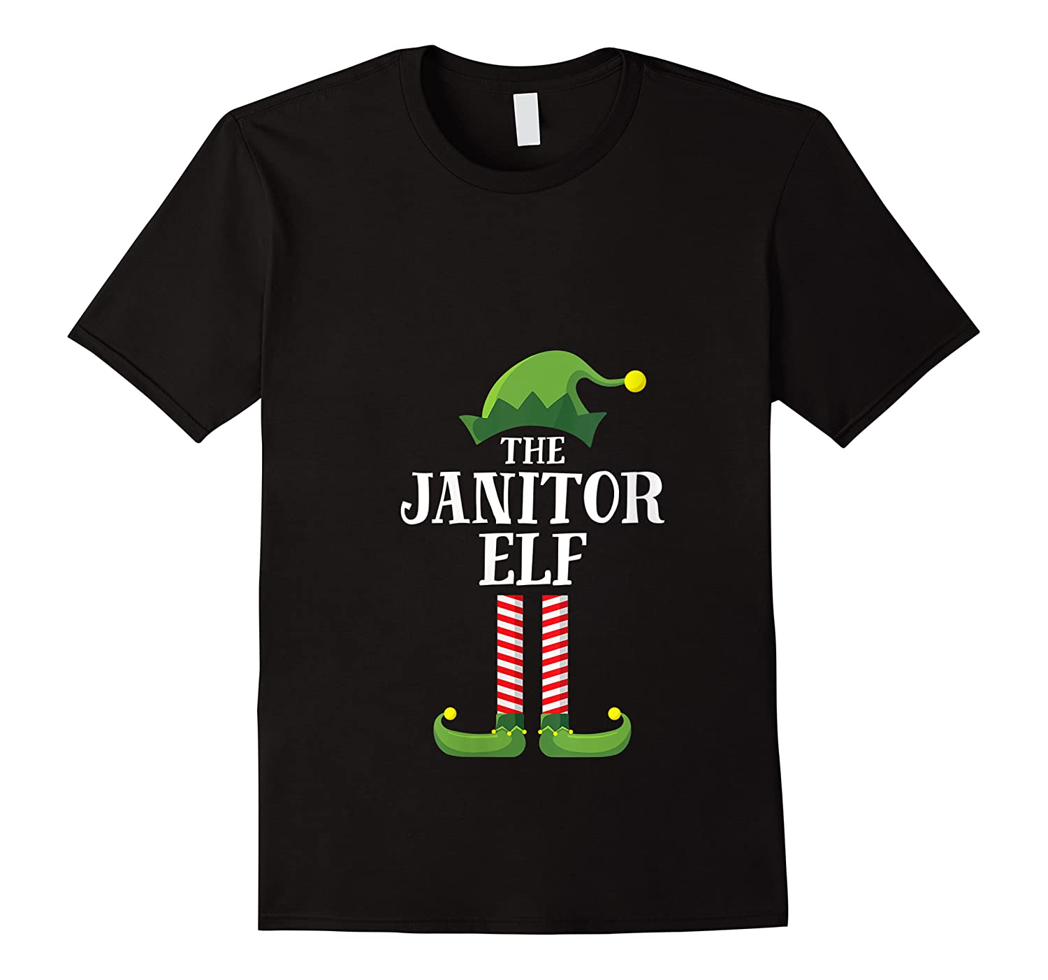 Janitor Elf Matching Family Group Christmas Party Pajama T-shirt