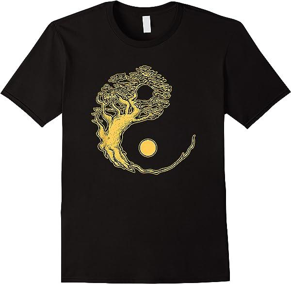 Bonsai Baum Yin Yang - Yoga Meditation Natur Buddha Japan T-shirt