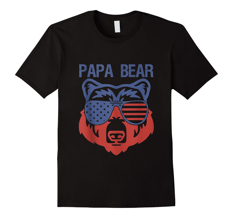 Usa Flag American Papa Bear Tank Gift Patriotic Funny Bro Tank Top Shirts