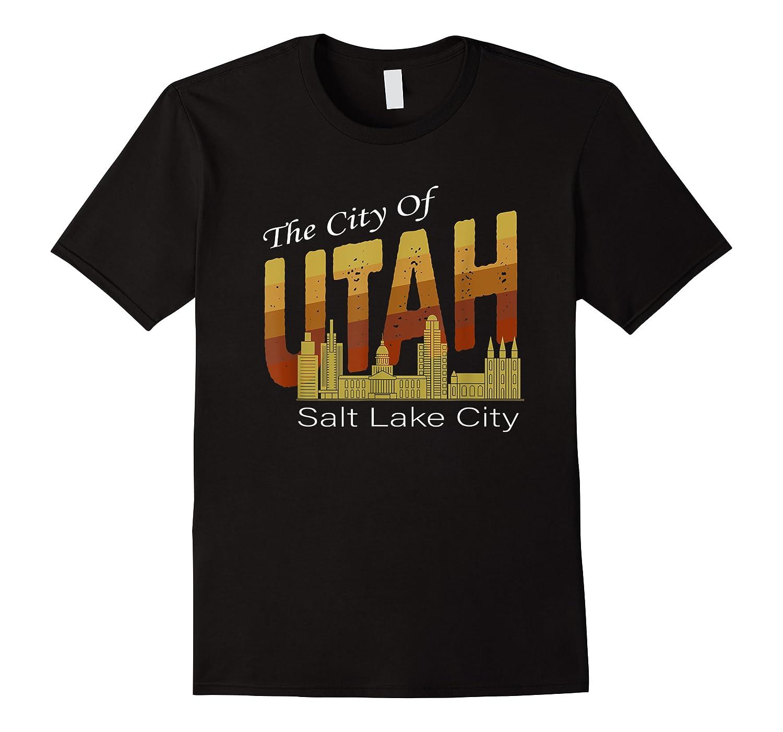 City Of Utah Shirt Salt Lake City Vintage State Gift T Shirt