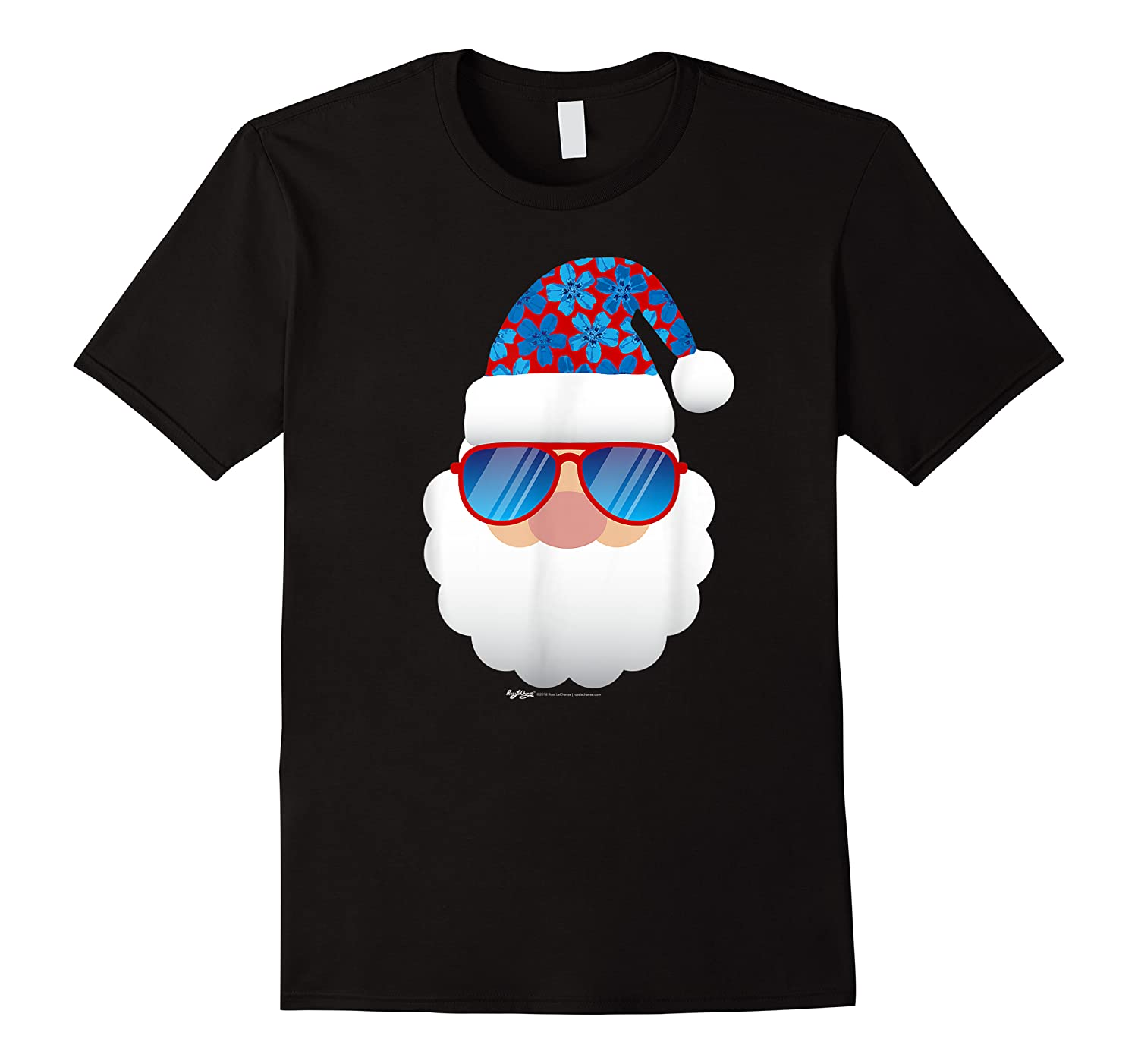 Cool Santa Emoticon In Sunglasses Christmas In July T Shirt