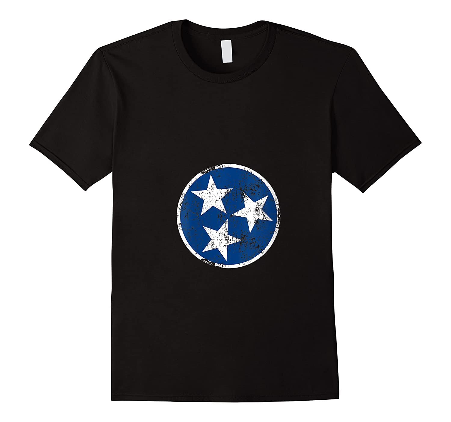 Tn 3 Star Distressed Blue And Tennessee State Flag Shirts