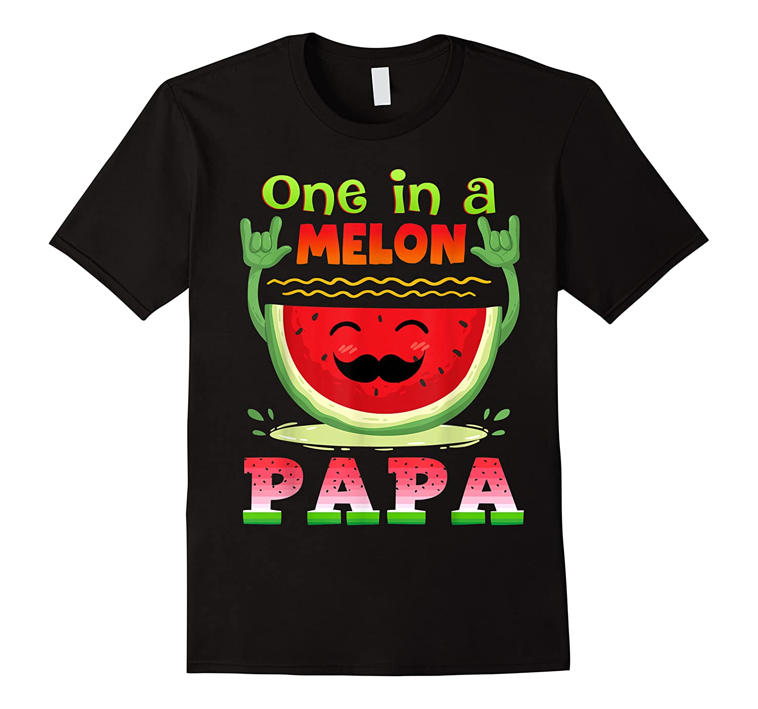 One In A Melon Papa Shirt Funny Watermelon Tee