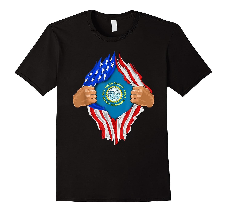 South Dakota Roots Inside State Flag American Proud Shirts