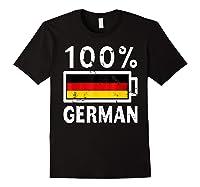 Germany Flag T Shirt 100 German Battery Power Tee Black