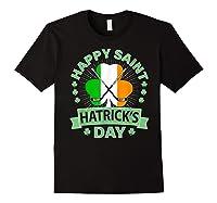 St Patrick S Day Hockey T Shirt Irish Saint Hatrick S Day 01 Black