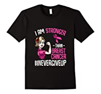 Breast Cancer Awareness Month Shirt For I Am Stronger Tank Top Black