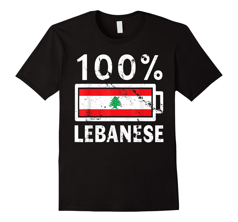 Lebanon Flag T Shirt 100 Lebanese Battery Power Tee