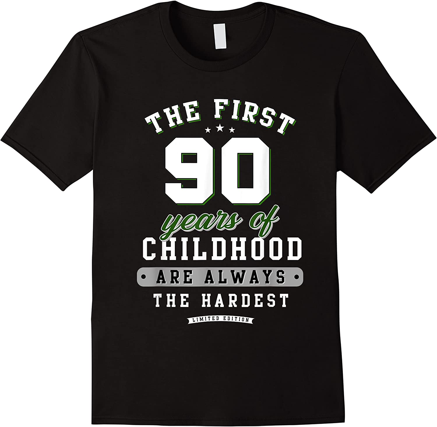 90th Birthday Funny Gift Life Begins At Age 90 Years Old T-shirt