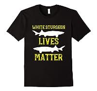 Sturgeon Fishing Shirt Fish T-shirt Gift Black