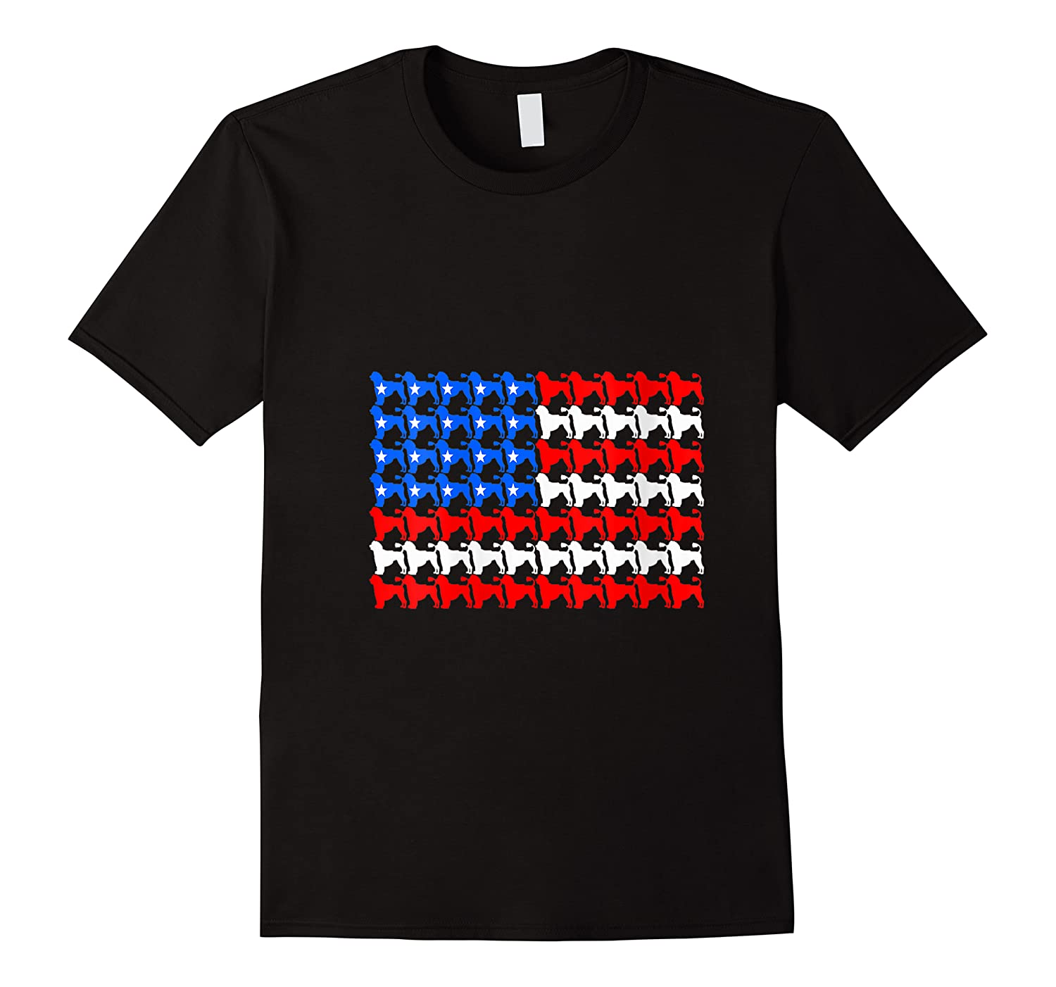 Portuguese Water 4th Of July American Flag Patriotic Men Dog Shirts