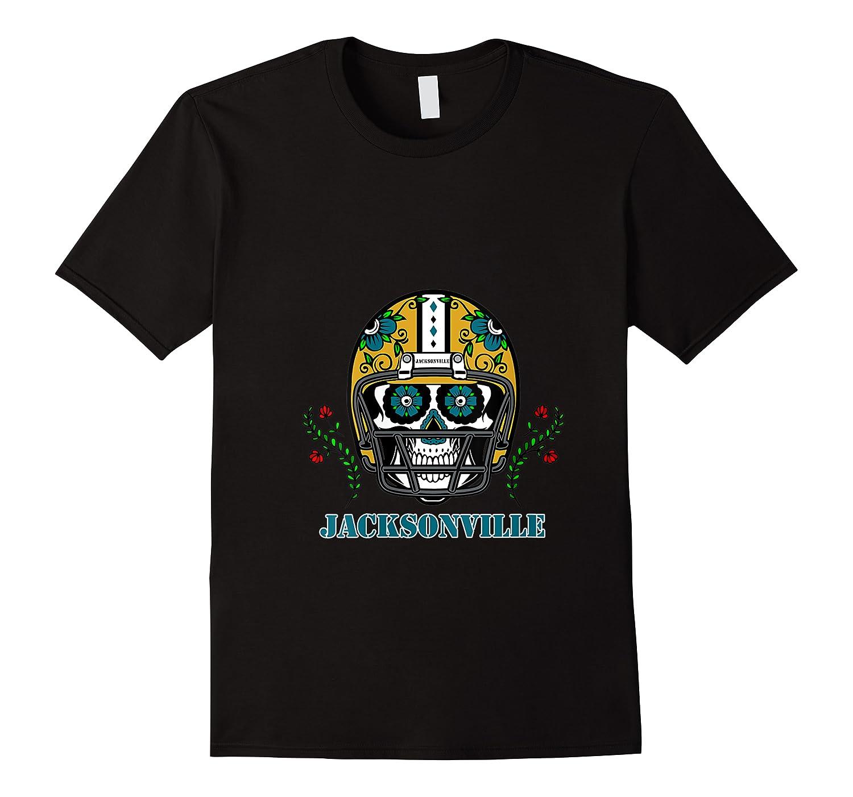 Jacksonville Football Helmet Sugar Skull Day Of The Dead T Shirt