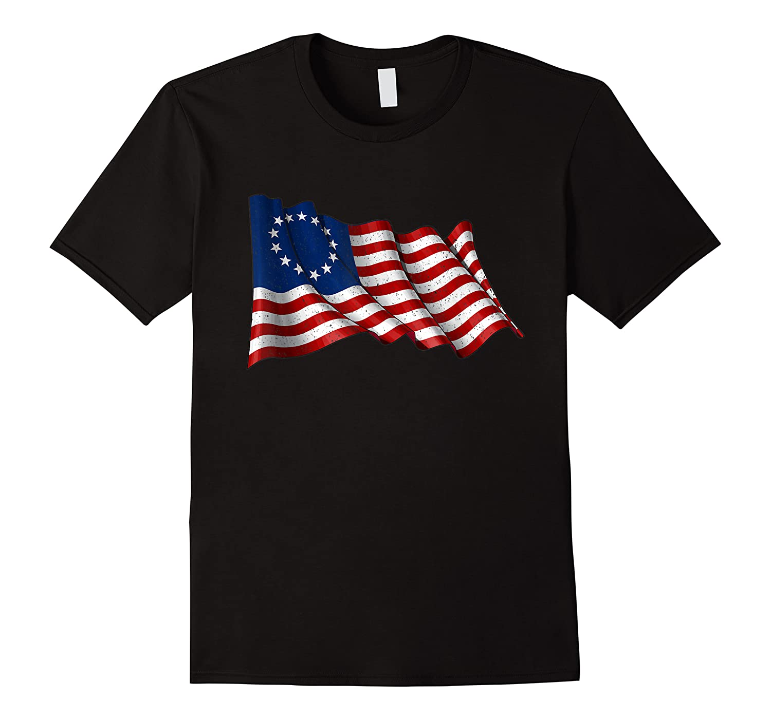 America Betsy Ross Flag 1776 Vintage Distressed T Shirt