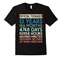 Nager Vintage 13 Years Birthday N Gifts Shirts Black