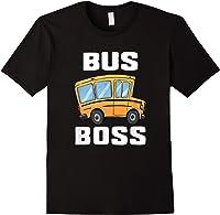 Funny Bus Boss School Bus Driver T-shirt Job Career Gift Black