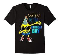 Cool Dancing Dabbing Emoji Mom Of Birthday Boy Party Shirts Black