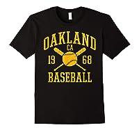 Oakland Baseball Vintage Oak Pride Retro Distressed Gift Shirts Black