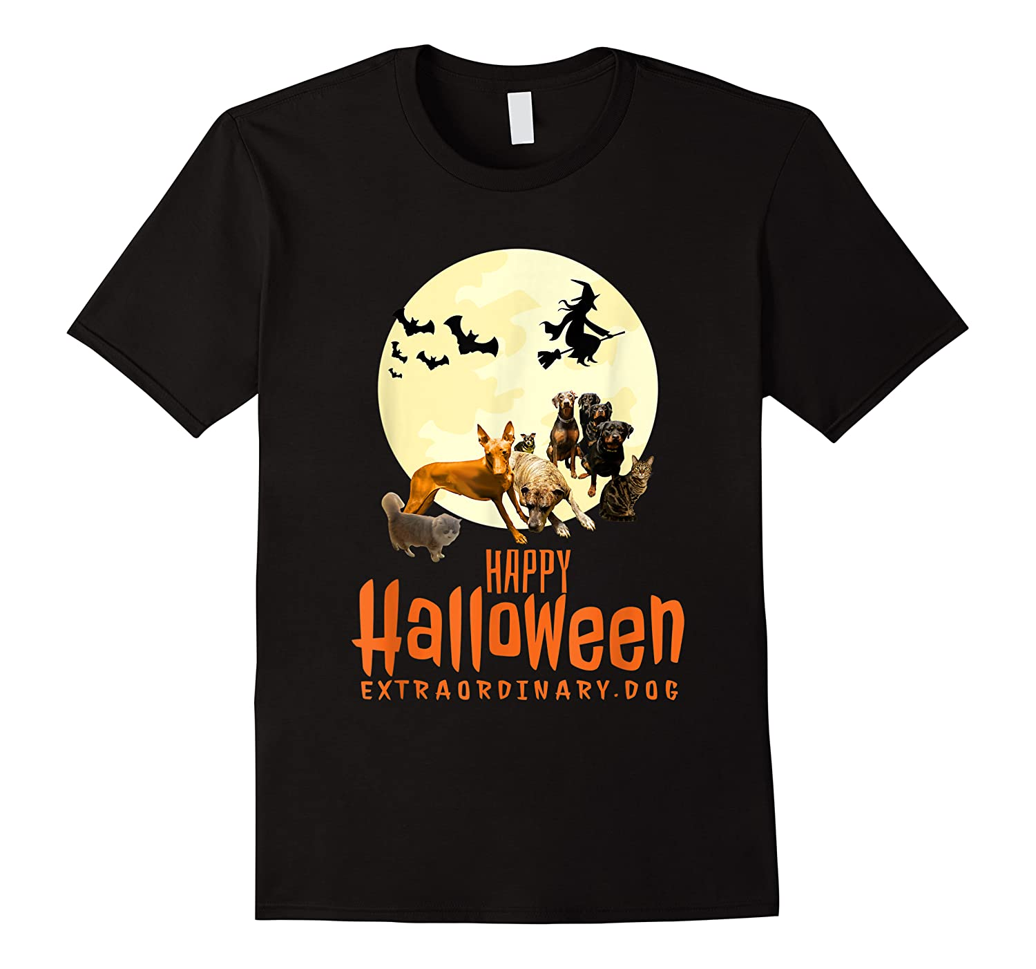 Happy Halloween With Extraordinary Dogs And Cats T Shirt