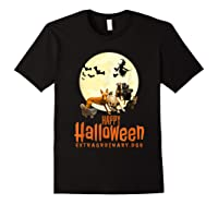 Happy Halloween With Extraordinary Dogs And Cats T Shirt Black