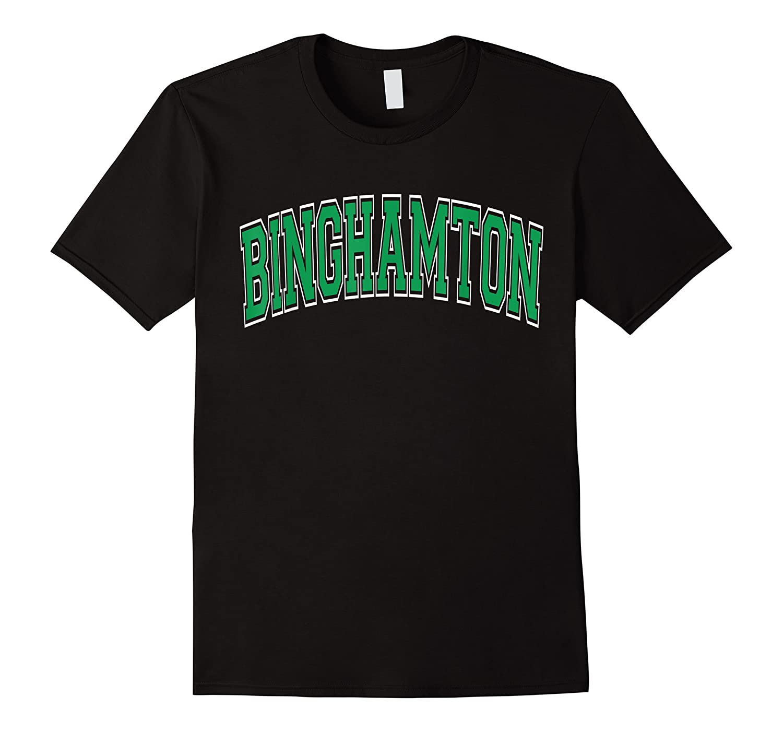 Binghamton T Shirt Ny Varsity Style Green Text